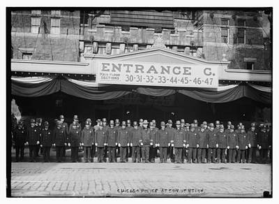 Photograph - Chicago Police At Republican National Convention by Historic Photos