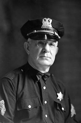 Comiskey Photograph - Chicago Police Sargent by Retro Images Archive