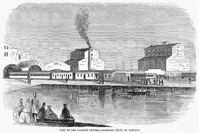 Illinois Central Railroad Painting - Chicago Railroad, 1859 by Granger