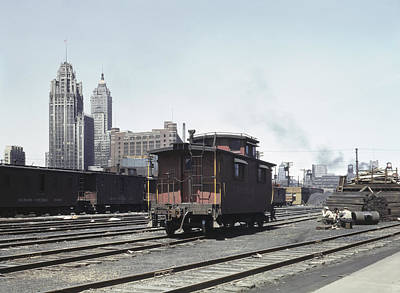 Water St Chicago Photograph - Chicago Railroad, 1943 by Granger