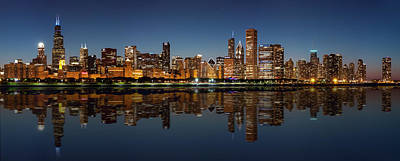 Photograph - Chicago Reflected by Semmick Photo