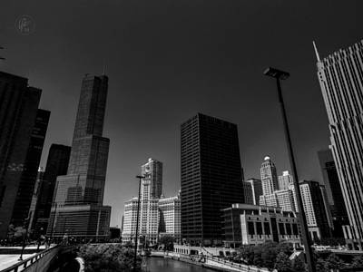 White Photograph - Chicago River 001 by Lance Vaughn