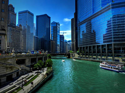 Photograph - Chicago River 003 by Lance Vaughn