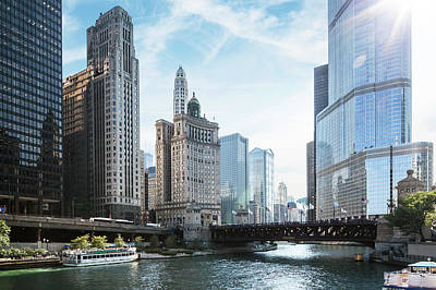 Photograph - Chicago River by Bjarte Rettedal