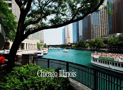 Photograph - Chicago River Front by Gary Wonning