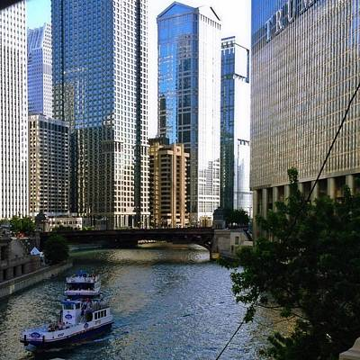 Photograph - Chicago River by Lora Mercado