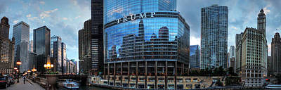 Photograph - Chicago River Pano 001 by Lance Vaughn