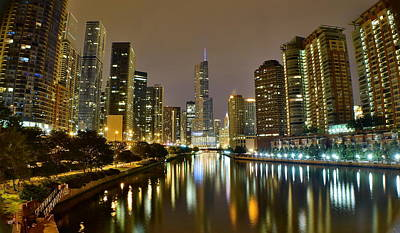 Chicago River View Pano Art Print by Frozen in Time Fine Art Photography