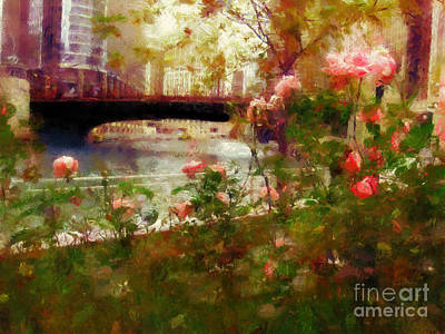 Photograph - Chicago River Walk by Scott B Bennett