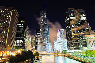 Photograph - Chicago River Walk by Songquan Deng
