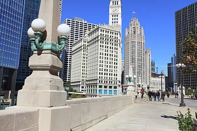 Chicago Photograph - Chicago Riverwalk On West Wacker Drive by Amanda Hall / Robertharding