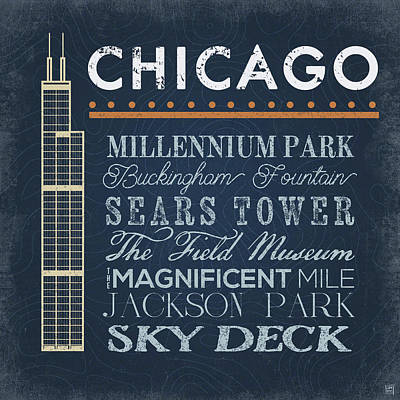 Chicago Painting - Chicago - Sears Tower by Aubree Perrenoud