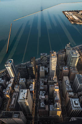 Hancock Building Wall Art - Photograph - Chicago Shadows by Steve Gadomski