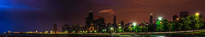 Photograph - Chicago Skyline 70mm by Randy Scherkenbach