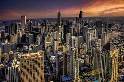 City Sunset Photograph - Chicago Skyline by Alexander Hill