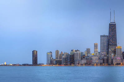 Chicago Skyline And Navy Pier Art Print by Shawn Everhart