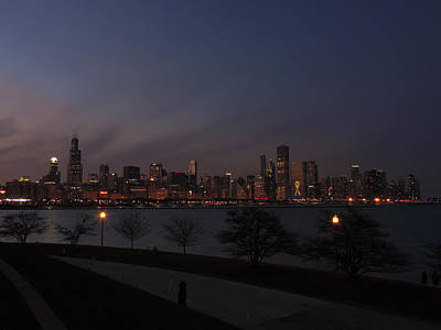 Sheep - Chicago Skyline at Dusk 2 by Cityscape Photography