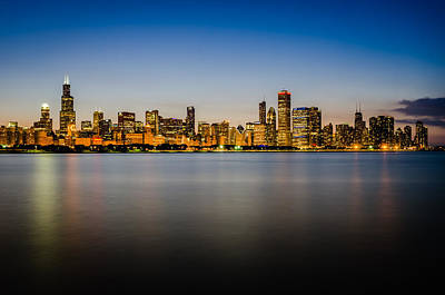 Photograph - Chicago Skyline At Sunset by Anthony Doudt