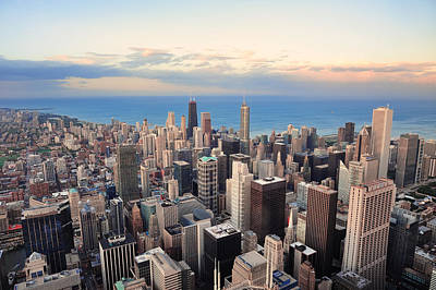 Photograph - Chicago Skyline At Sunset by Songquan Deng