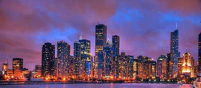 Photograph - Chicago Skyline From Navy Pier View 2 by Ken Smith