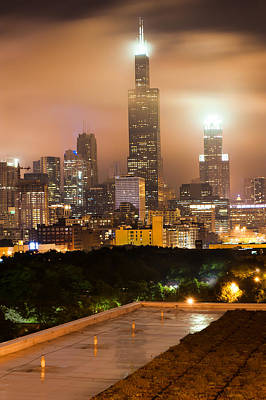 Photograph - Chicago Skyline From The Rooftop by Gregory Ballos