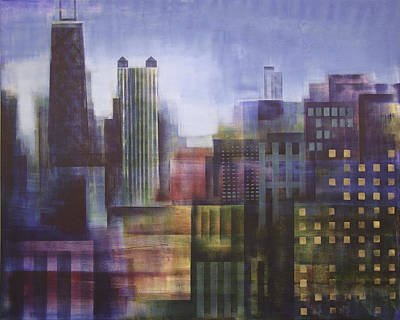 Chicago Cubs Painting - Chicago Skyline - In Neutral Tones by Joseph Catanzaro