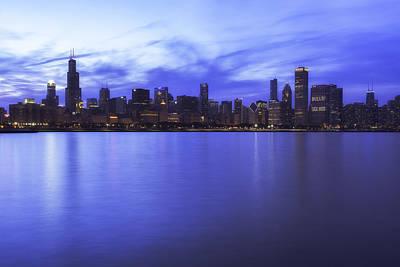 Chicago Skyline Art Print by Mel Ashar