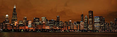 Photograph - Chicago Skyline Panorama At Dusk by Ken Smith