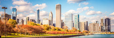 Chicago Building Photograph - Chicago Skyline Panorama Photo by Paul Velgos