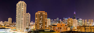 Photograph - Chicago Skyline Photography October 2014 by Michael  Bennett