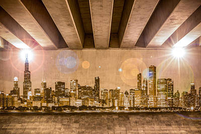 Photograph - Chicago Skyline by Semmick Photo