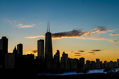 Chicago Skyline Silhouette Original by Steve Gadomski