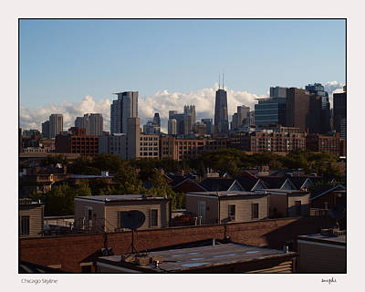Uic Photograph - Chicago Skyline by Susan Phillips