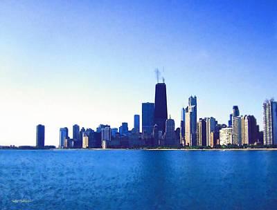 Hancock Building Mixed Media - Chicago Skyline Watercolors by Skyler Tipton