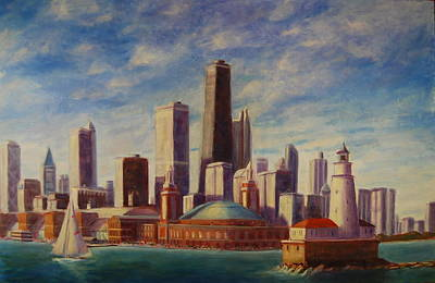 Painting - Chicago Skyline by Will Germino