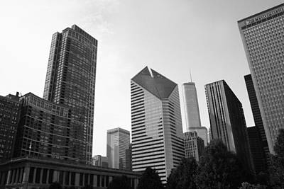 Chicago Skyscrapers Art Print by Mike Maher