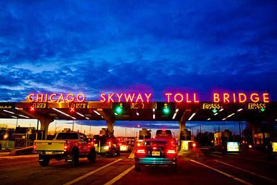 Photograph - Chicago Skyway Toll Bridge by John McGraw