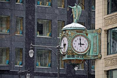Photograph - Chicago Snowstorm 2 by Steven Richman