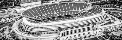 Sports Royalty-Free and Rights-Managed Images - Chicago Soldier Field Aerial Panorama Photo by Paul Velgos