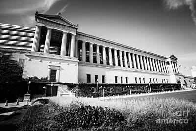 Recently Sold - Sports Royalty-Free and Rights-Managed Images - Chicago Solider Field Black and White Picture by Paul Velgos