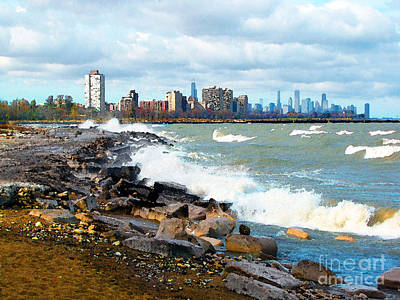 Photograph - Chicago South Lakefront by Cedric Hampton