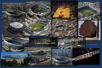Wrigley Field Digital Art - Chicago Sports Collage by Thomas Woolworth