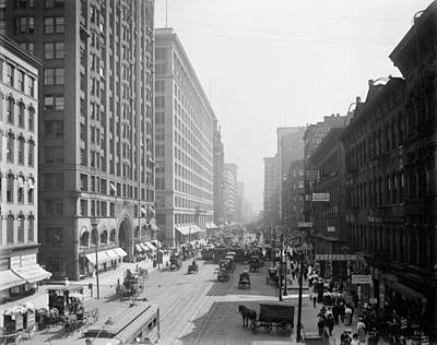 Behm Photograph - Chicago State Street, C1905 by Granger