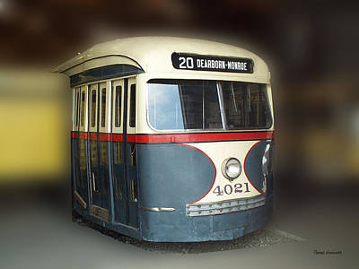 By Thomas Woolworth Photograph - Chicago Street Car 20 by Thomas Woolworth