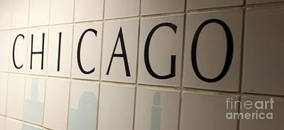 Photograph - Chicago Subway Sign by Gregory Dyer