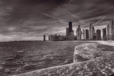 Chicago Sunrise Bw Art Print by Steve Gadomski