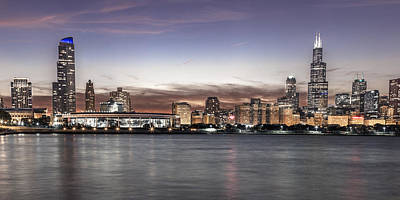 Canon 6d Photograph - Chicago Sunset by John McGraw