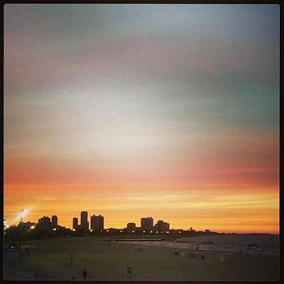 Skylines Wall Art - Photograph - Chicago Sunset by Katie Basil