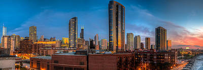 Photograph - Chicago Sunset Photogtaphy by Michael  Bennett