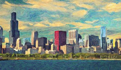 Painting - Chicago by Taylan Apukovska
